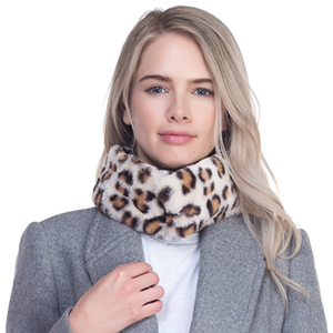 Scarf 009 TPO Soft dual tone scarf magnetic leopard