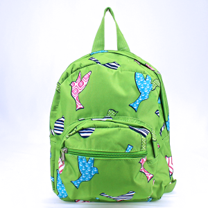 luggage AK NB5 26 youth backpack multi bird pattern green