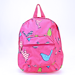 luggage AK NB5 26 youth backpack multi bird pattern fuchsia