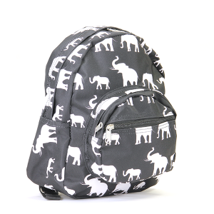Elephant pattern mini backpack - black