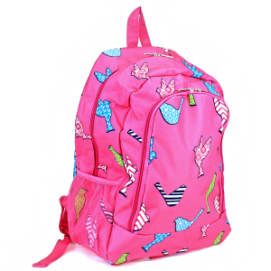 ak backpack nbn 26 bird pattern fuchsia