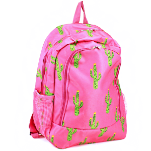 luggage AK NBN light pink cactus backpack
