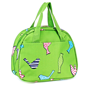 luggage ak ncc20 26 bird pattern lunch box green