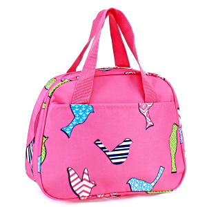 luggage ak ncc20 26 bird pattern lunch box fuchsia
