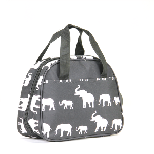 Elephant pattern lunch box - black
