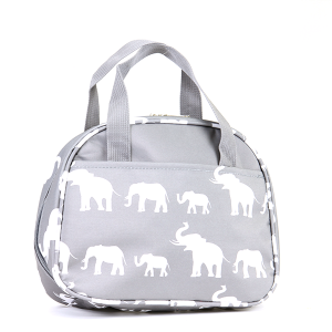 Elephant pattern lunch box - gray