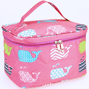 luggage AK NC70 27 collapsible makeup bag multi whale light pink