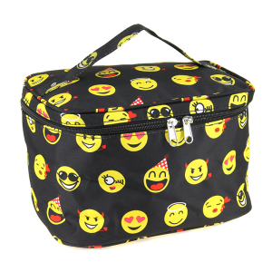 luggage ak NC70 50 collapsible makeup bag emoji black