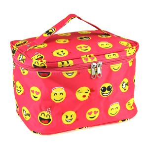 luggage ak NC70 50 collapsible makeup bag emoji fuchsia
