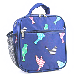 luggage ak ncc17 26 long lunch box bird pattern multi navy