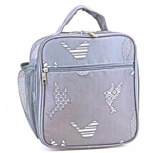 luggage ak ncc17 26 long lunch box bird pattern grey