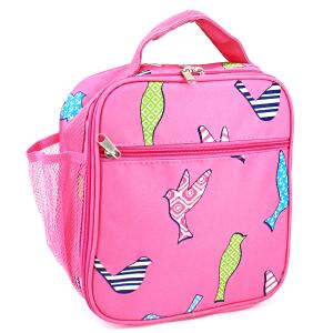 luggage ak ncc17 26 long lunch box bird pattern fuchsia