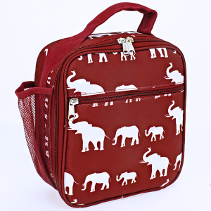 luggage AK NCC17 long lunch box simple elephant maroon