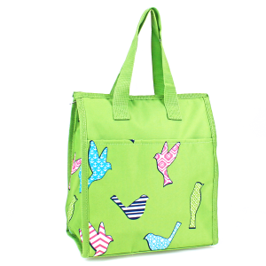 luggage AK NCC18 26 lunch box bird pattern green
