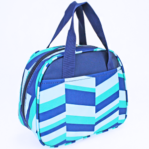 luggage ak ncc20 36 lunch box geometric navy blue