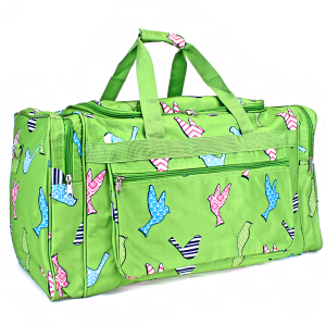 luggage ND22 26 duffle bag bird pattern green