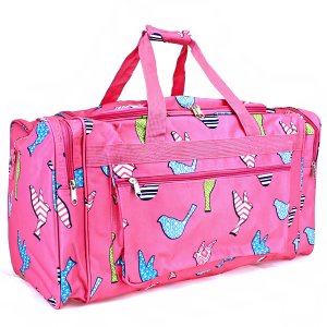 luggage ND22 26 duffle bag bird pattern fuchsia