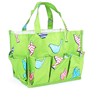luggage ak NHY009 A P organizer bag bird pattern green