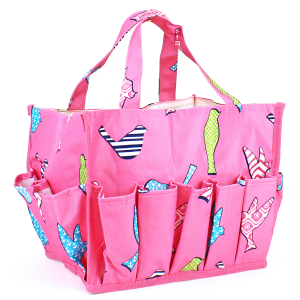 luggage ak nhy009 A P organizer bag bird pattern fuchsia