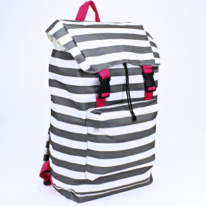 luggage NTP2 23 urban backpack nautical stripe gray fuchsia