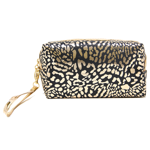 LOF PCH-140 makeup bag animal print black
