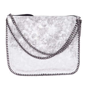 3AM PP 6897 fashion chain tote silver
