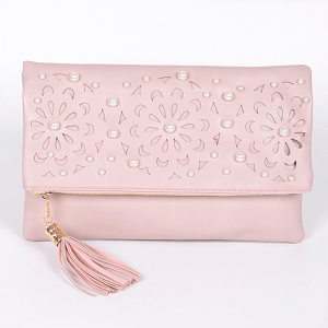 3AM PPC 6025 laser cut flower fold over clutch pink