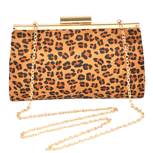 3AM PPC6387 leopard print fashion clutch brown
