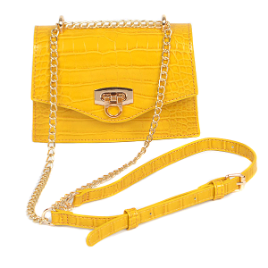 3AM PPC 6567 fashion crossbody croc yellow
