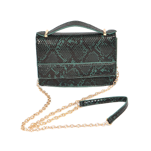 3AM PPC6613 python snake skin crossbody green