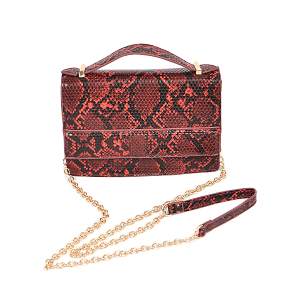 3AM PPC6613 python snake skin crossbody red