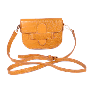 3AM PPC 6661 mini crossbody croc yellow