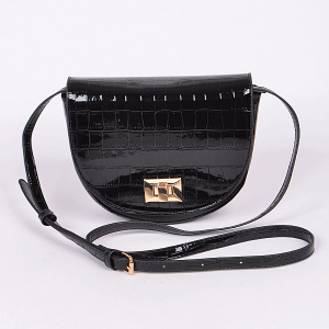 3AM PPC6772 croc skin crossbody black