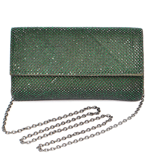 3AM PPC6783 rhinestone clutch green