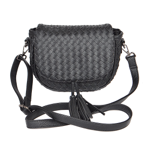 3AM PPC6846 crossbody braided tassel black