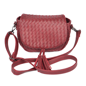 3AM PPC6846 crossbody braided tassel burgundy