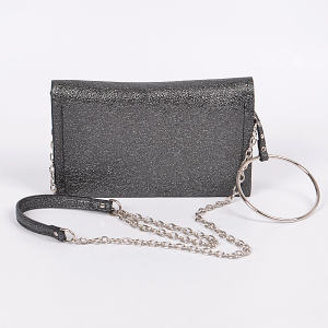 3AM PPC6892 glittery clutch black