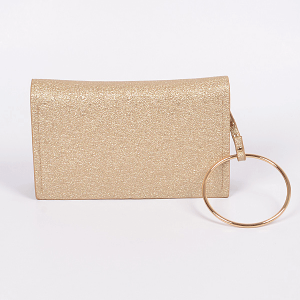 3AM PPC6892 glittery clutch gold