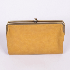 3AM PPW2188 classic style wallet mustard yellow