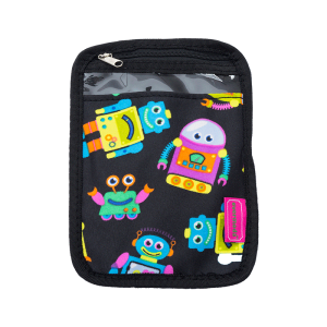 luggage 1005 passport holder robot black