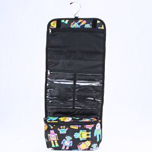 luggage 8012 hanging cosmetic case robot black
