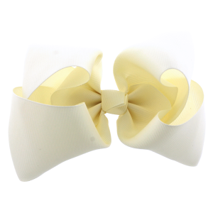 12 pack Bow set clip ivory