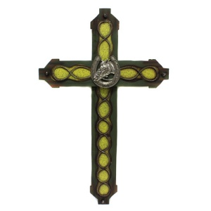 RT ra 9660 wooden cross horseshoe green