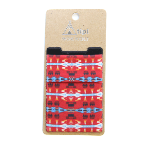 Phone Pocket 006 12 Tipi geometric red