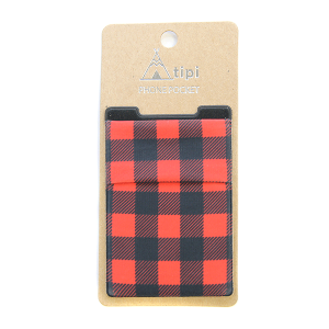 Phone Pocket 010 12 Tipi buffalo plaid red
