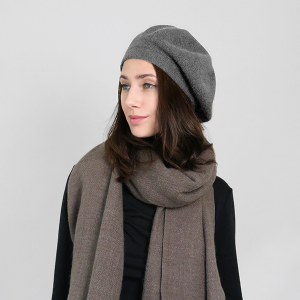 winter cap 095 30 KW soft beret gray
