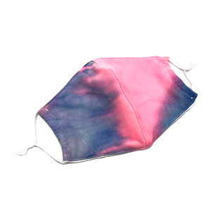 Face Mask 402a 30 KW tie dye mask with filter pocket multi purple