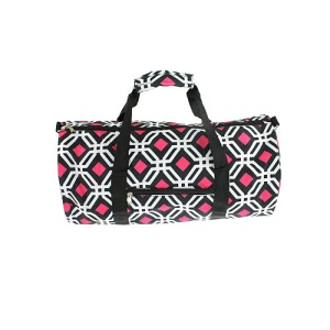 Luggage SD 709 round duffel geometric black fuchsia