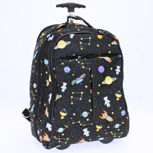 luggage 6018 rolling computer backpack outer space black