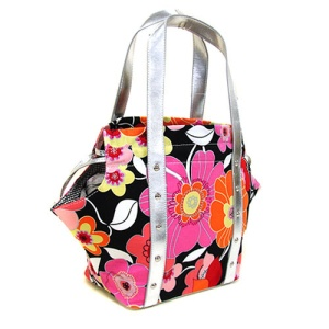 SY YD 1001 Flower shoulder bag black